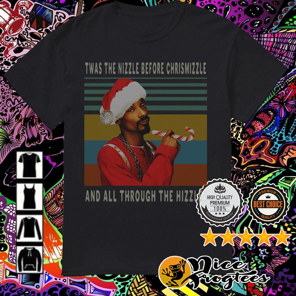 Vintage Snoop Dogg Twas the nizzle before Christmizzle shirt