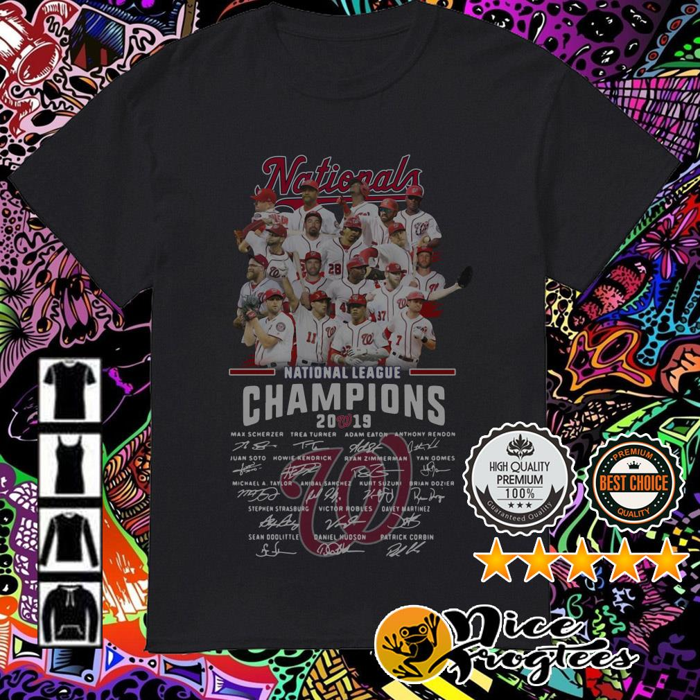 Washington Nationals national League Champions 2019 signatures shirt