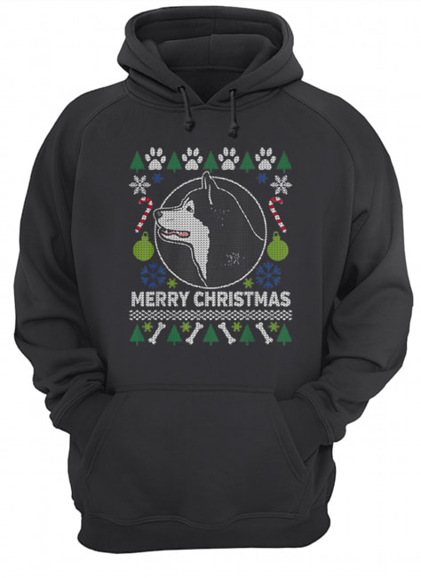 Alaskan Malamute Dog Breed Ugly Christmas Style Gifts  Unisex Hoodie