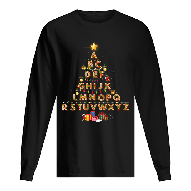 Alphabet Christmas Lights  Long Sleeved T-shirt