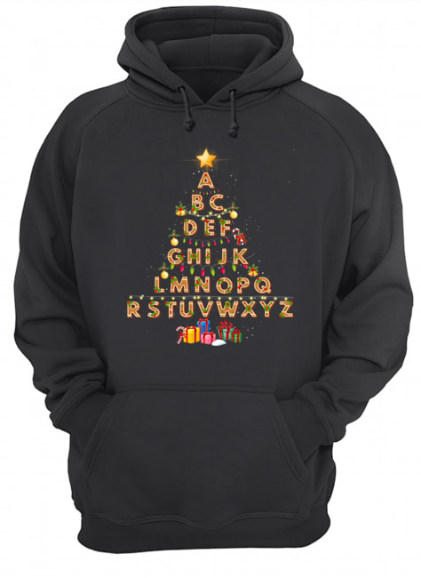 Alphabet Christmas Lights  Unisex Hoodie