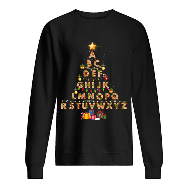 Alphabet Christmas Lights  Unisex Sweatshirt