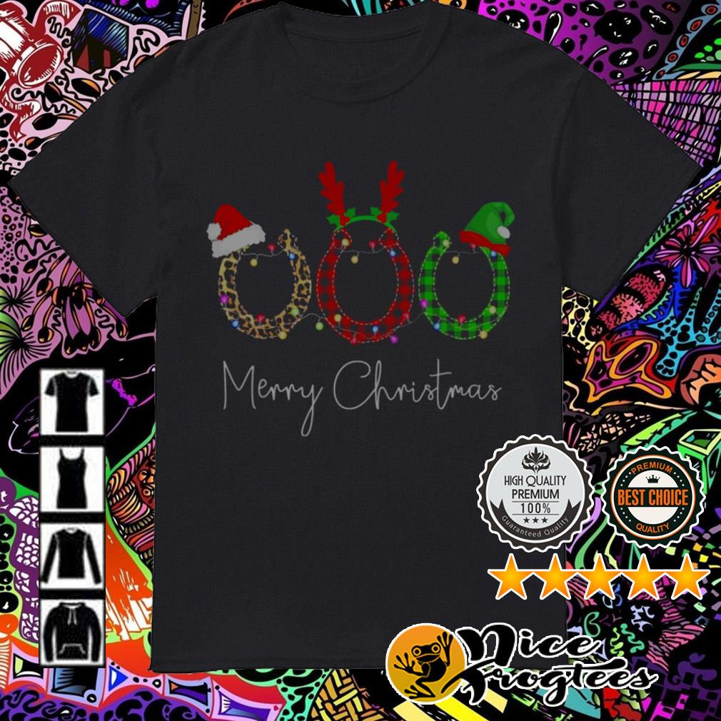 Arc magnets Santa reindeer Merry Christmas guys shirt