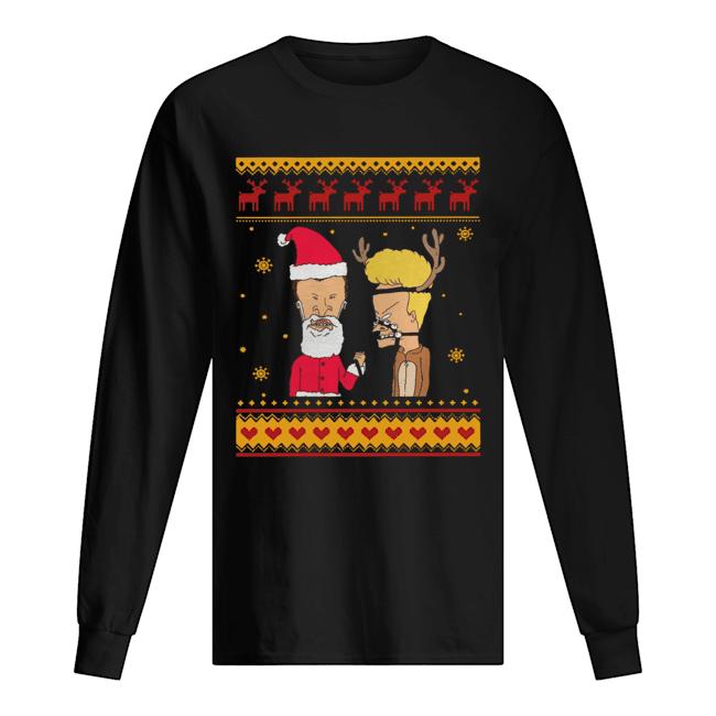 Beavis And Butthead Christmas  Long Sleeved T-shirt
