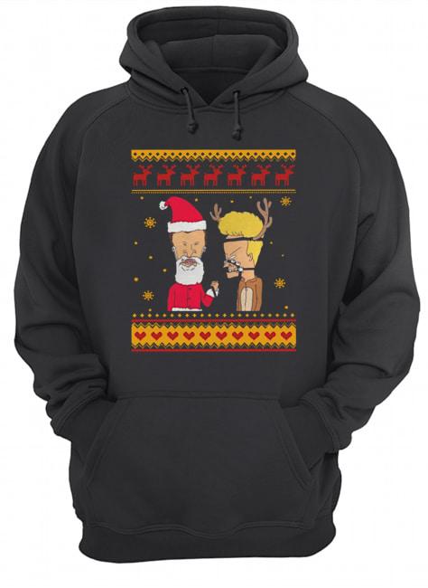 Beavis And Butthead Christmas  Unisex Hoodie