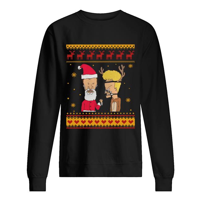 Beavis And Butthead Christmas  Unisex Sweatshirt