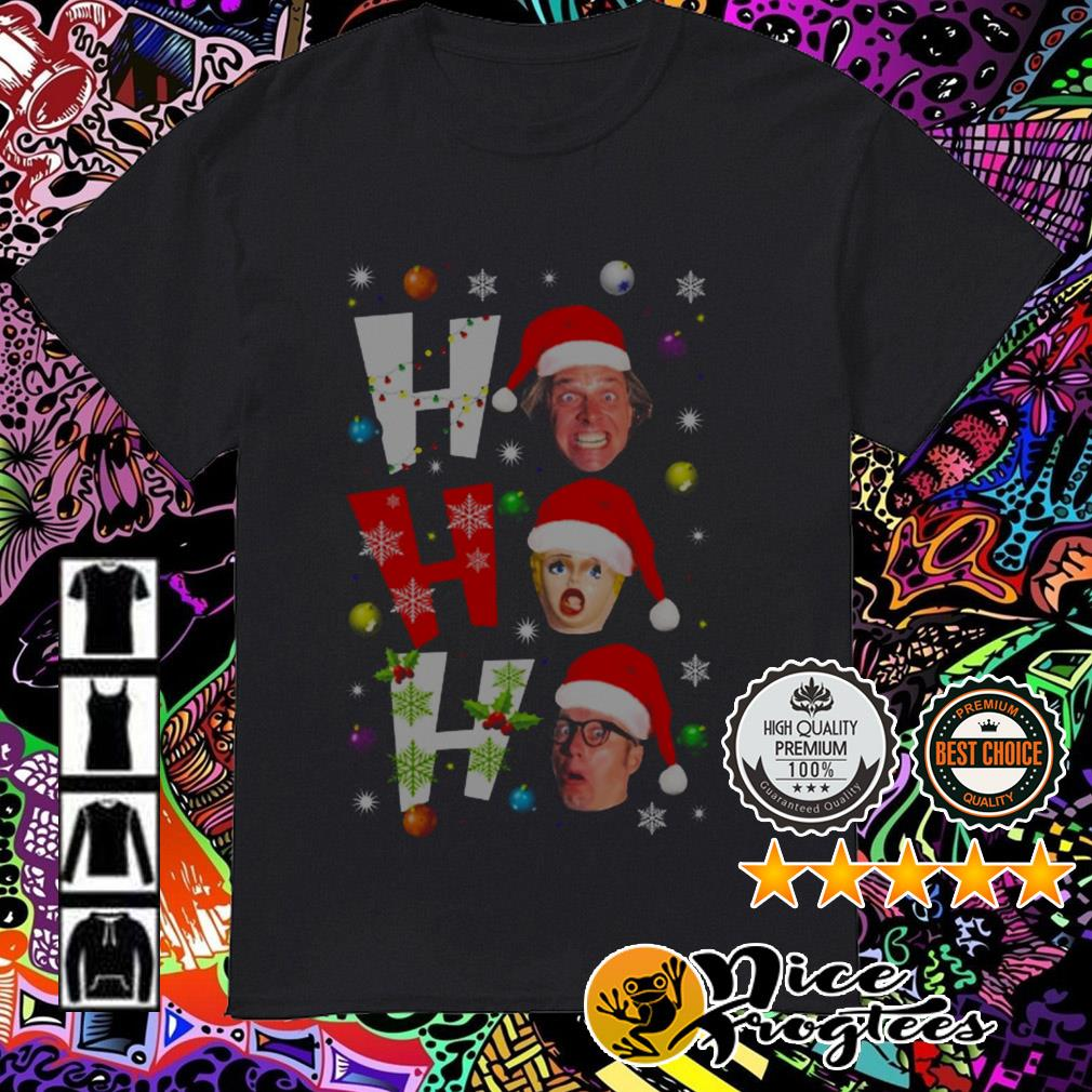 Bottom ho ho ho Christmas guys shirt