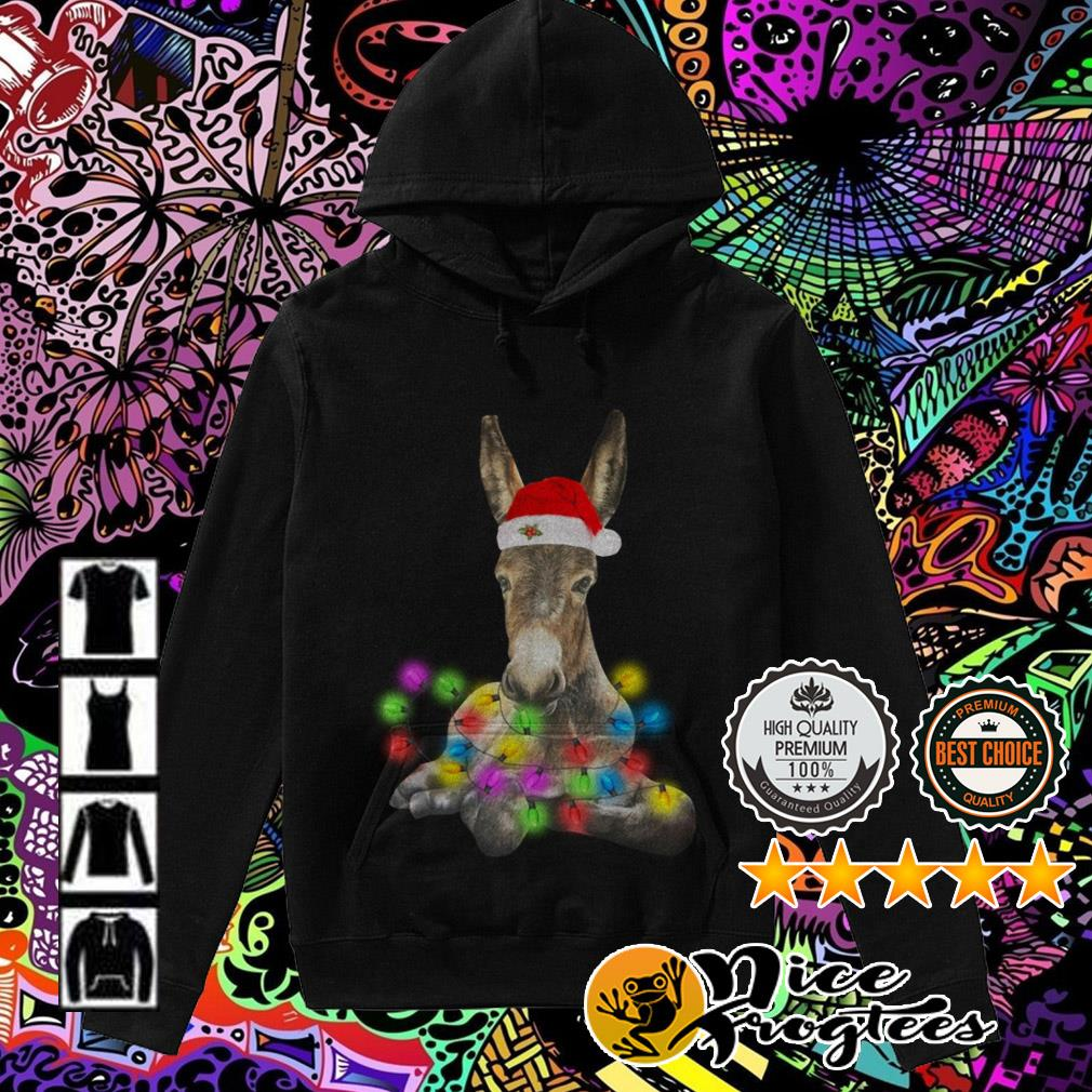 Donkey Santa Light Christmas sweater