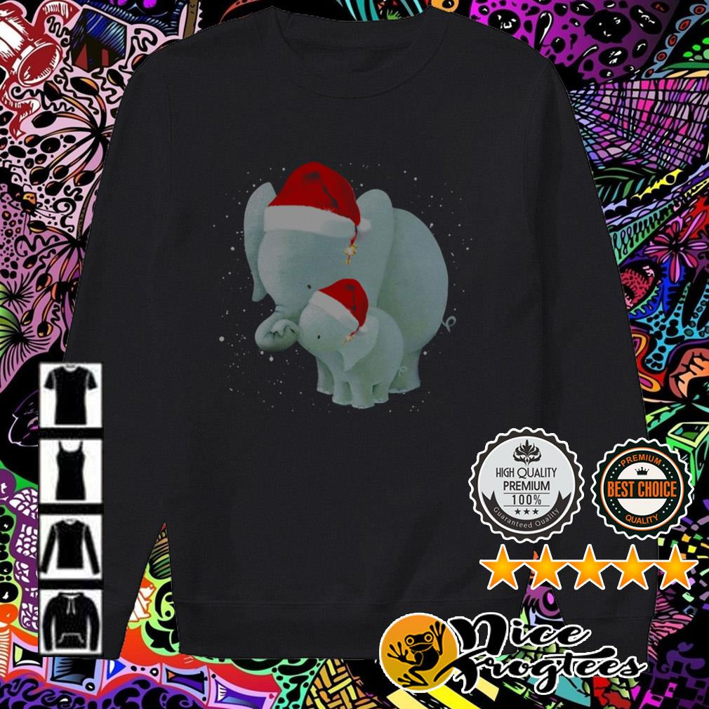 Elephant and baby Santa Christmas Sweater