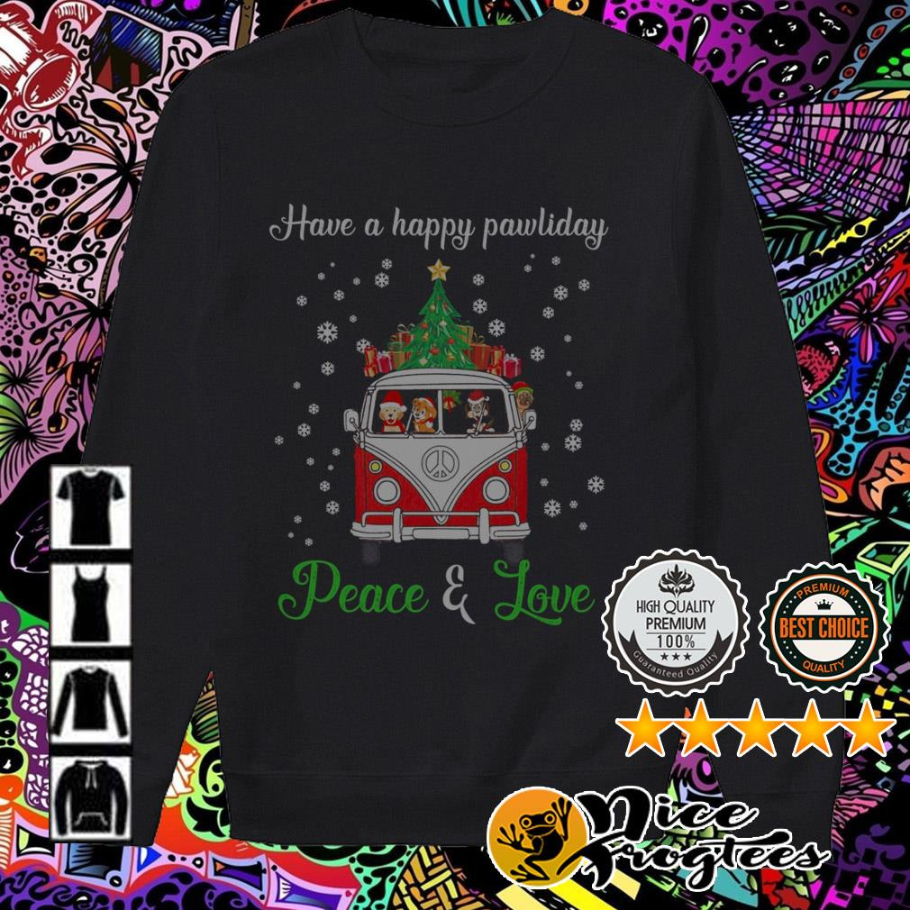 Have a happy pawliday Peace and love Harry Potter hippie car Christmas Sweater