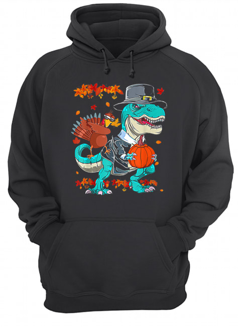 Original Thanksgiving T-Rex Dinosaur Dabbing Turkey Funny Gift Boy  Unisex Hoodie