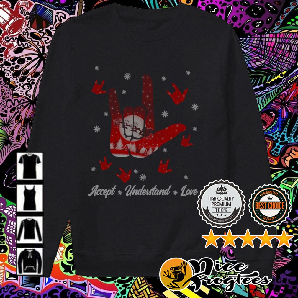 Sign language Accept Understand love Christmas Sweater