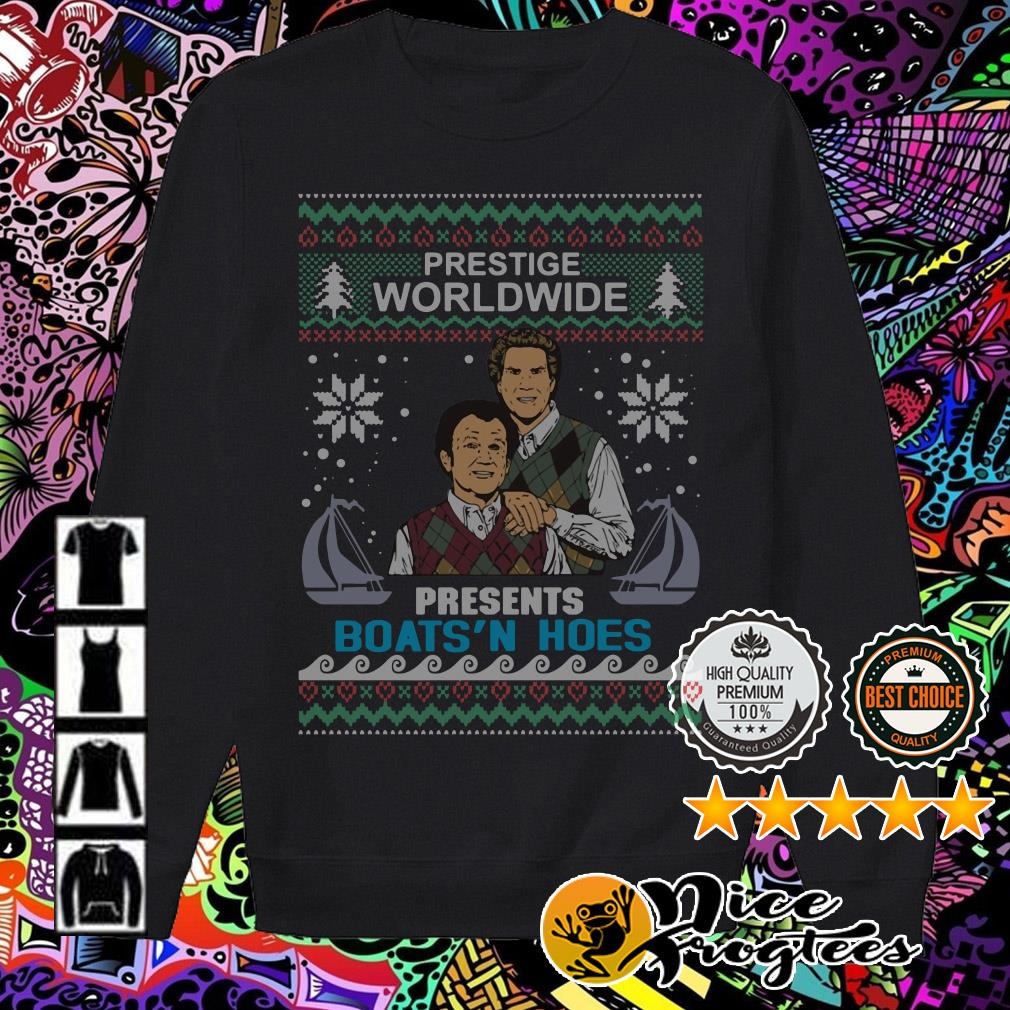 Step Brothers Prestige Worldwide Presents Boats'n Hoes Christmas sweater