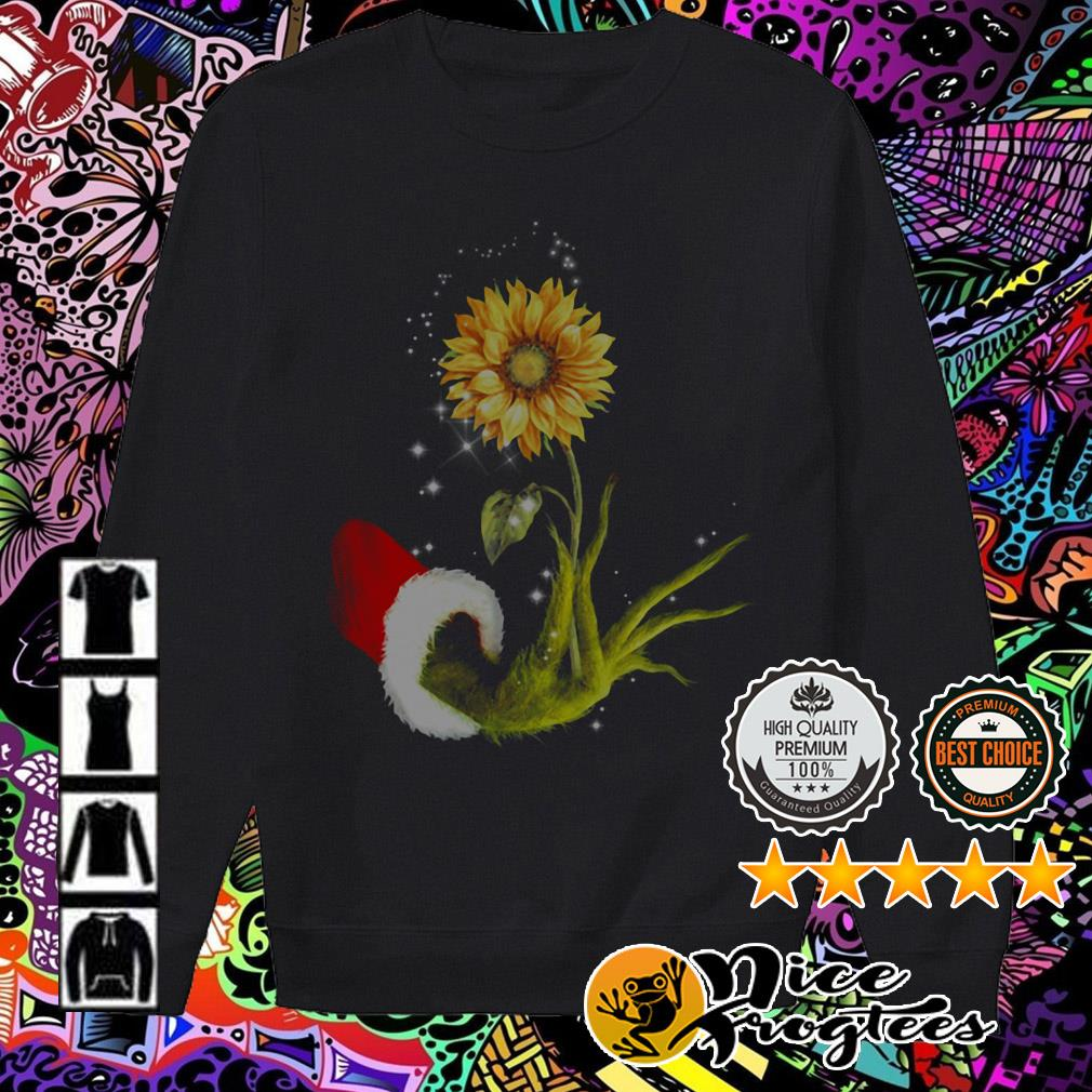 The Grinch hold Sunflower Christmas sweater