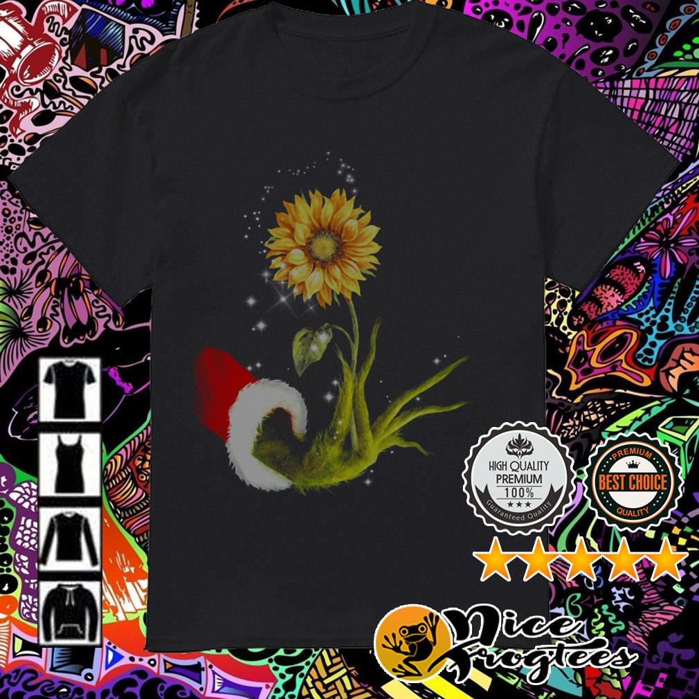 The Grinch hold Sunflower Christmas guys shirt