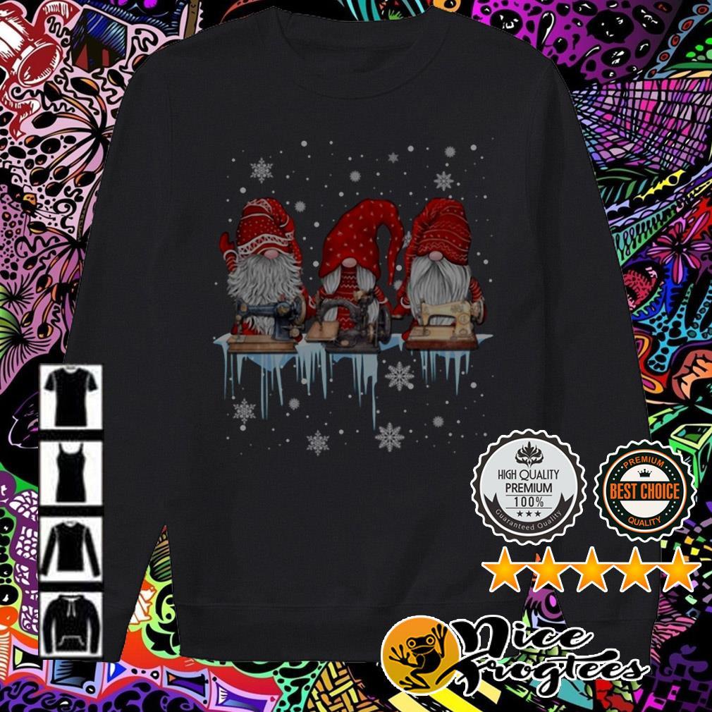 Three Dwarfs Santa Sewing machine Christmas sweater