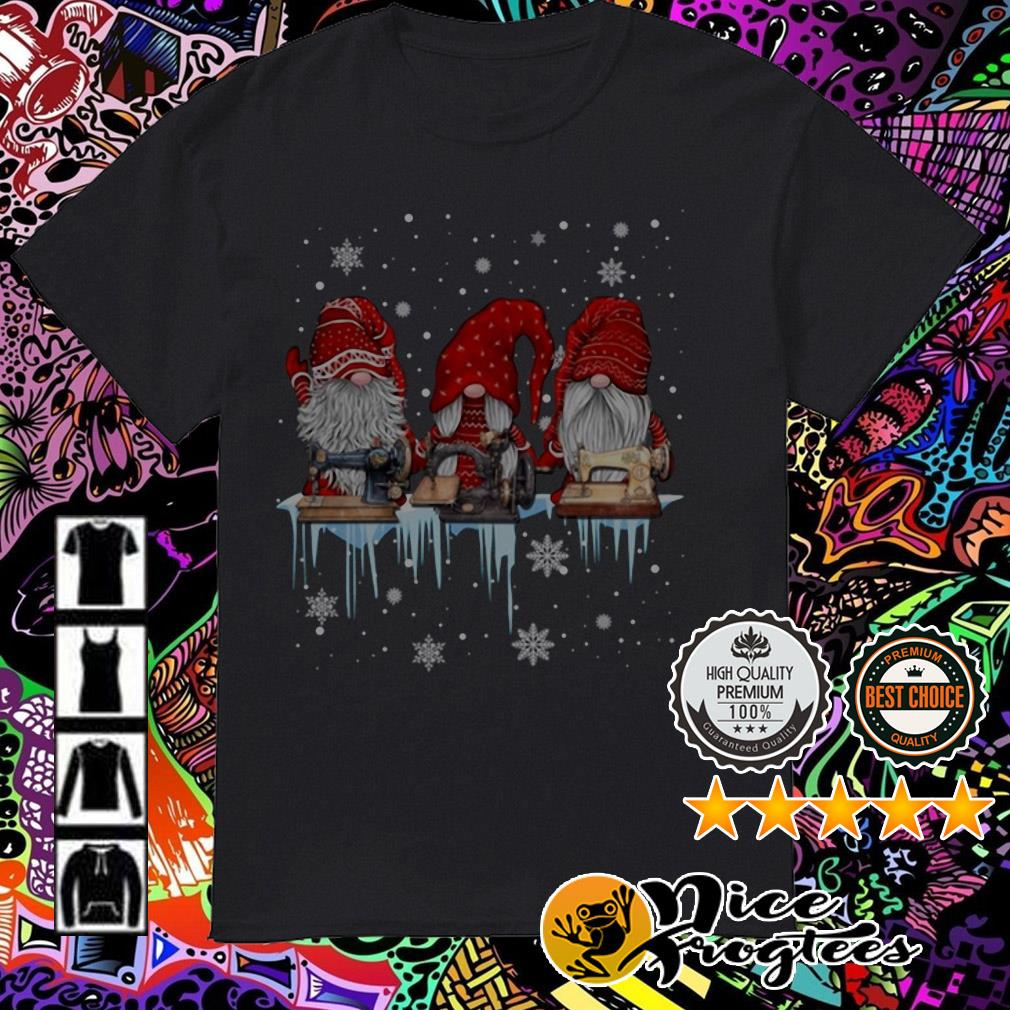 Three Dwarfs Santa Sewing machine Christmas guys shirt