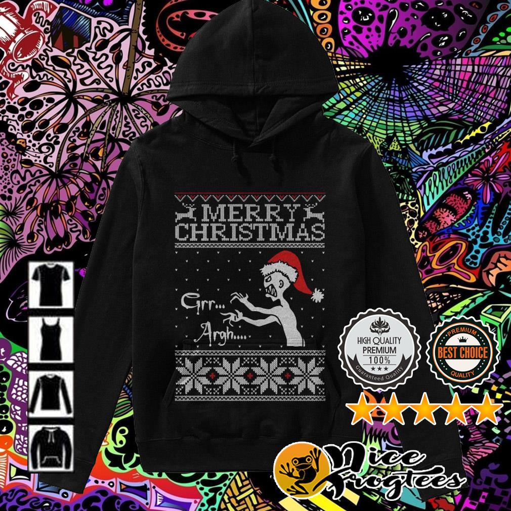 Vampire monster Merry Christmas Grr Argh Hoodie