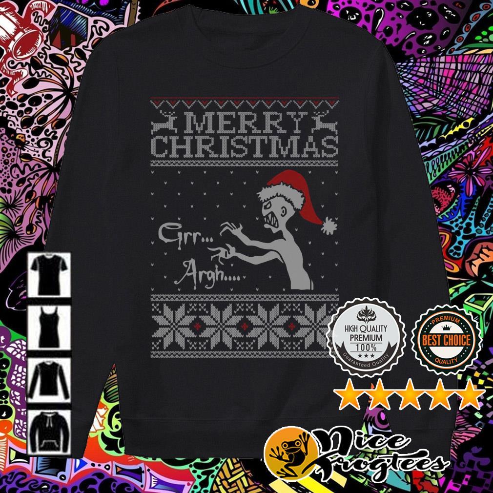 Vampire monster Merry Christmas Grr Argh sweater