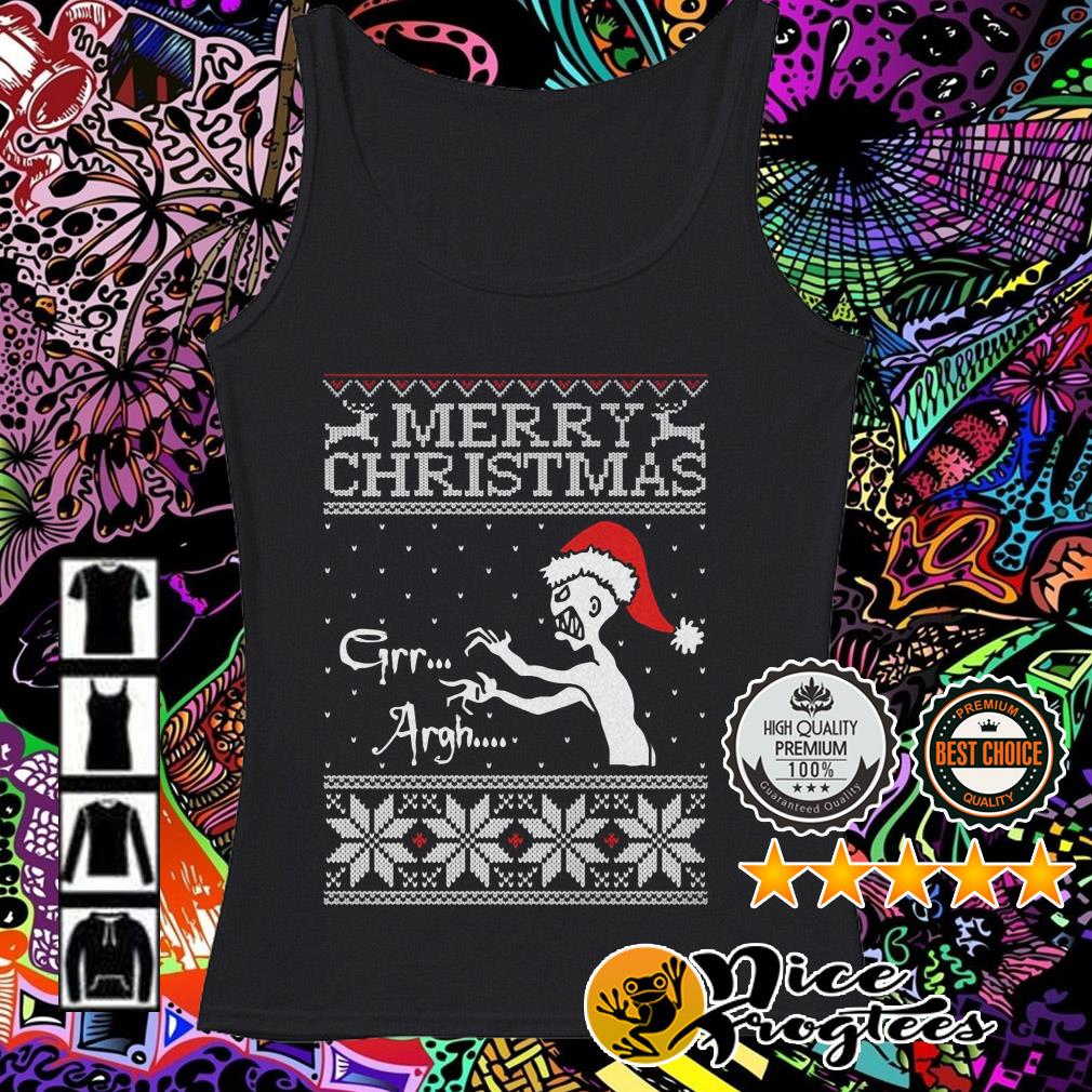 Vampire monster Merry Christmas Grr Argh Tank top