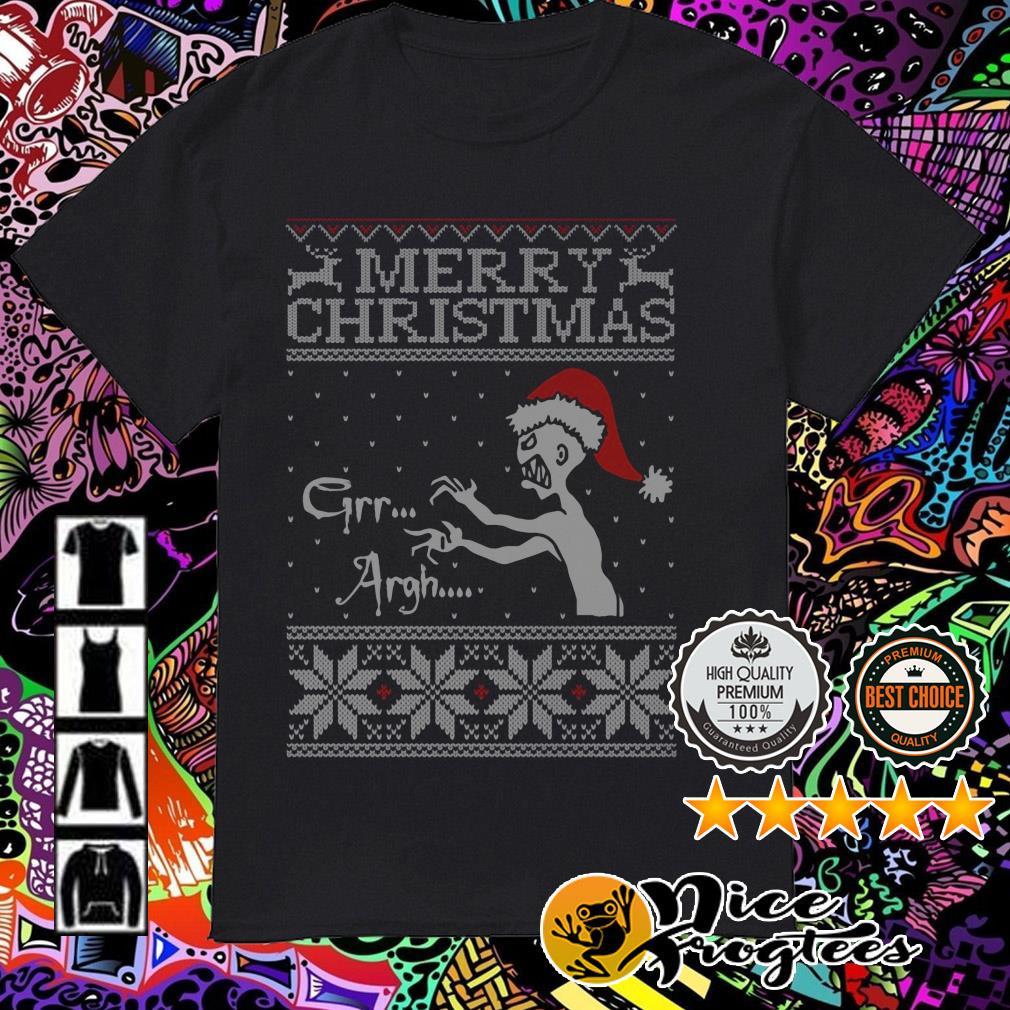 Vampire monster Merry Christmas Grr Argh guys shirt