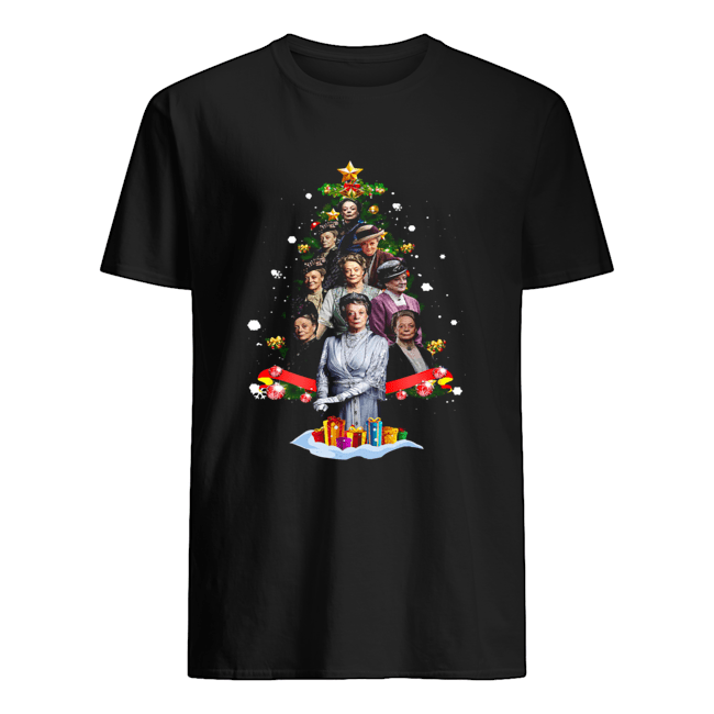 violet-crawley-downton-abbey-christmas-tree-shirt-classic-mens-t-shirt-1
