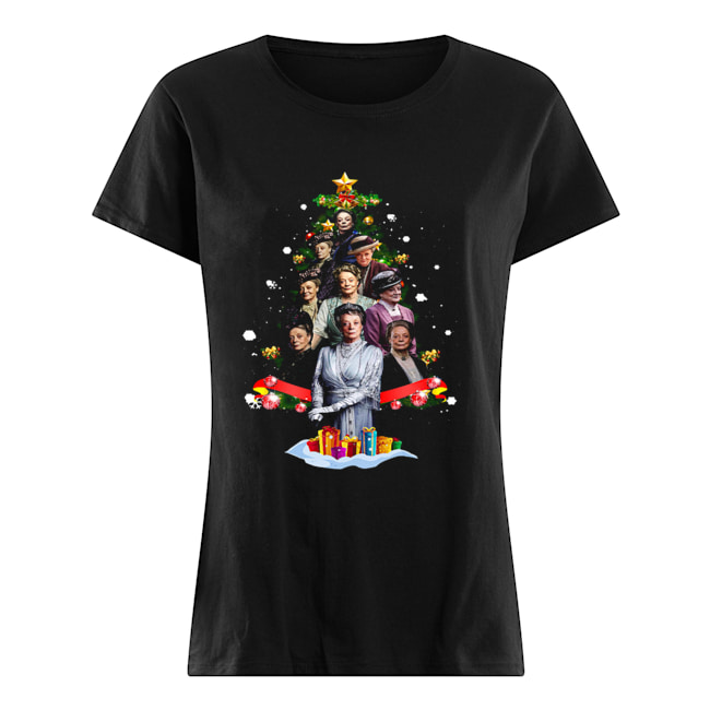 Violet Crawley Downton Abbey Christmas Tree Shirt Classic Women's T-shirt