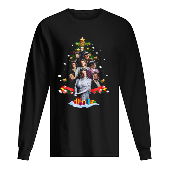 Violet Crawley Downton Abbey Christmas Tree Shirt Long Sleeved T-shirt