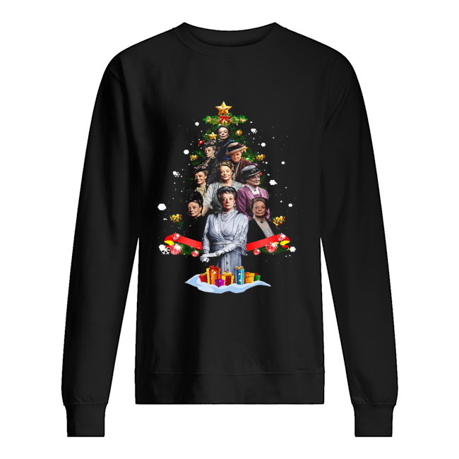 Violet Crawley Downton Abbey Christmas Tree Shirt Unisex Sweatshirt