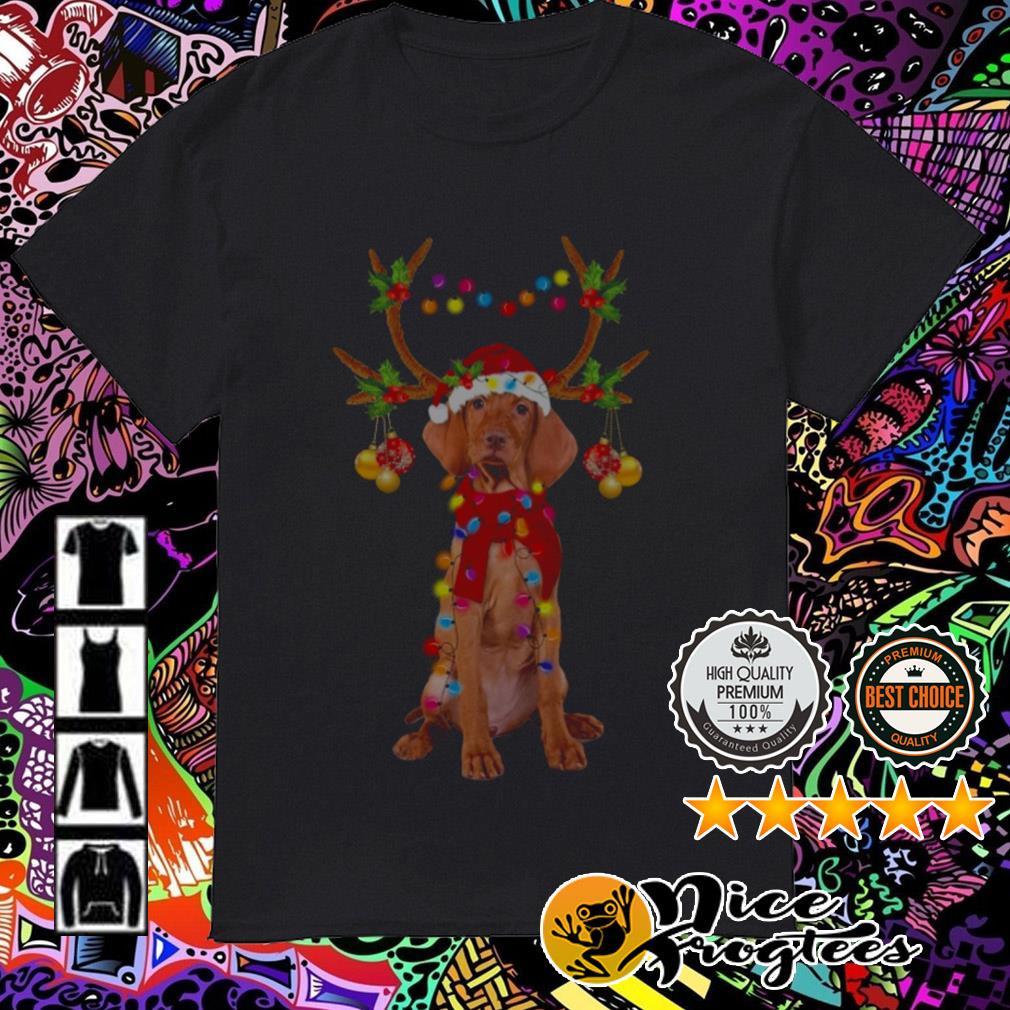 Vizsla dog gorgeous reindeer Crewneck guys shirt