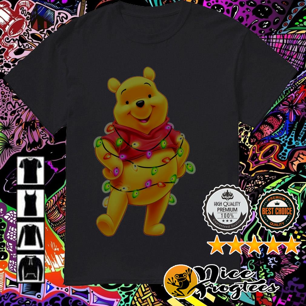 Winnie the Pooh Light Christmas guys shirt