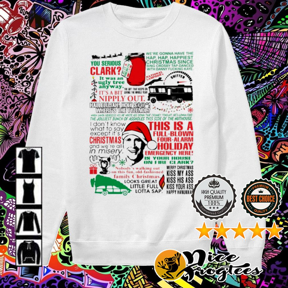 You Serious Clark this is a full-blown four-alarm holiday emergency here Christmas sweater