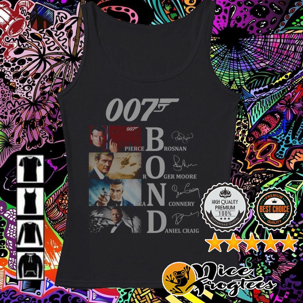 007 Bond Pierce Brosnan Roger Moore Daniel Craig Sean Connery signatures Tank top