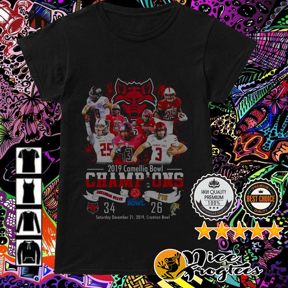 2019 Camellia Bowl Champions Arkansas State and FIU Ladies Tee
