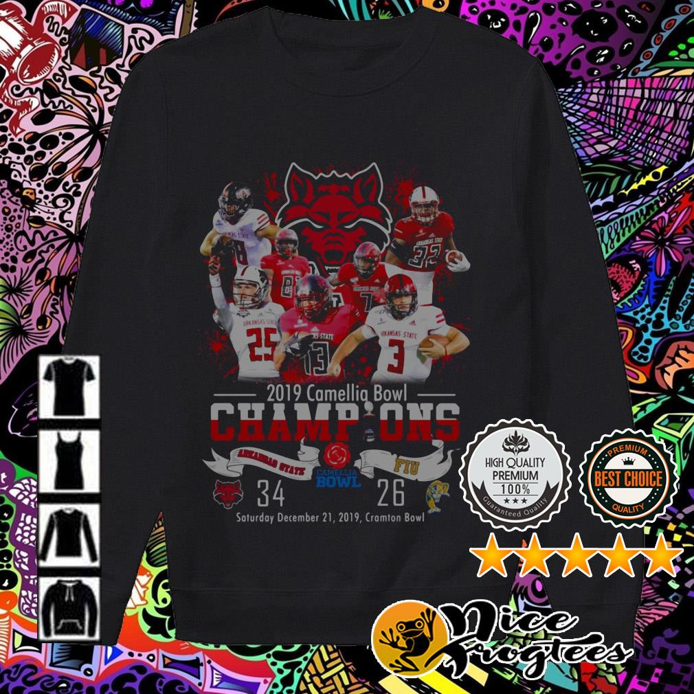 2019 Camellia Bowl Champions Arkansas State and FIU Sweater