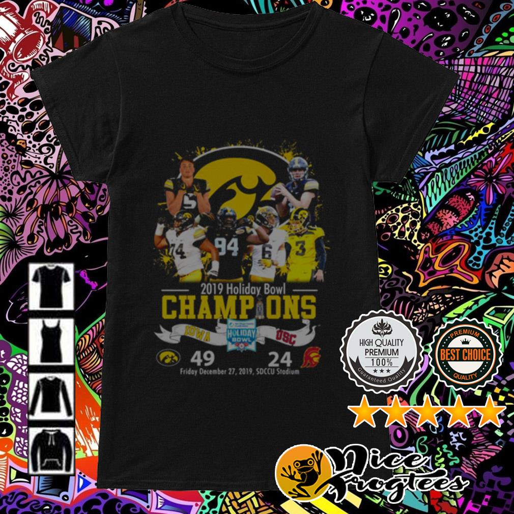 2019 Holiday Bowl Champions Iowa USC Ladies Tee