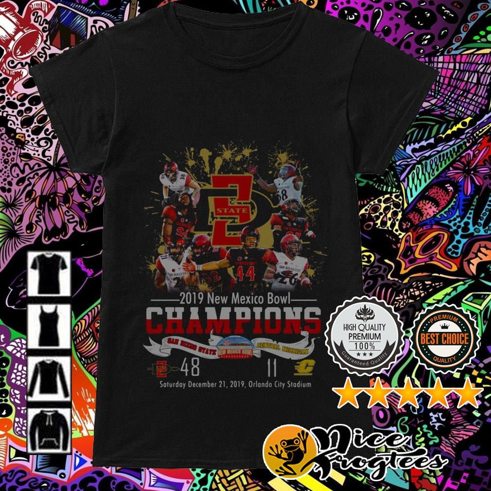 2019 New Mexico Bowl Champions San Diego State and Central Michigan Ladies Tee