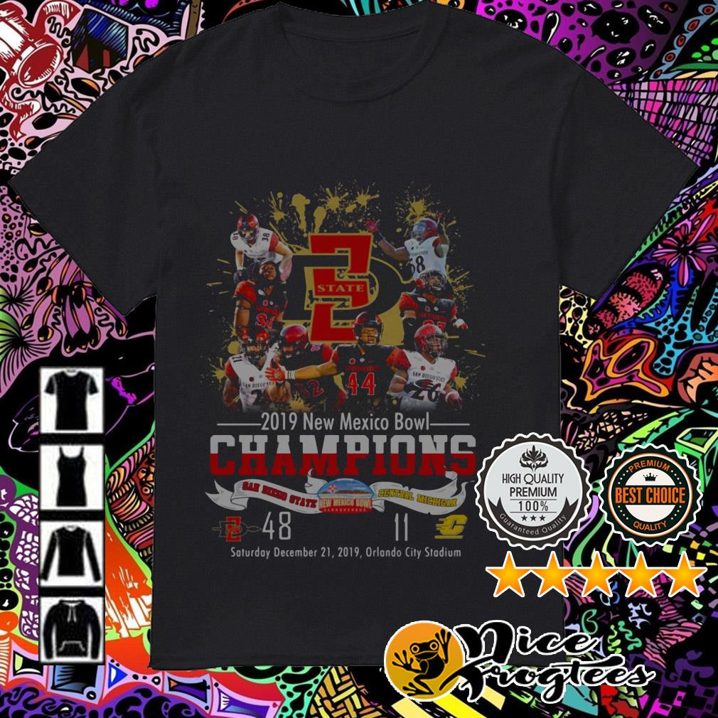 2019 New Mexico Bowl Champions San Diego State and Central Michigan shirt