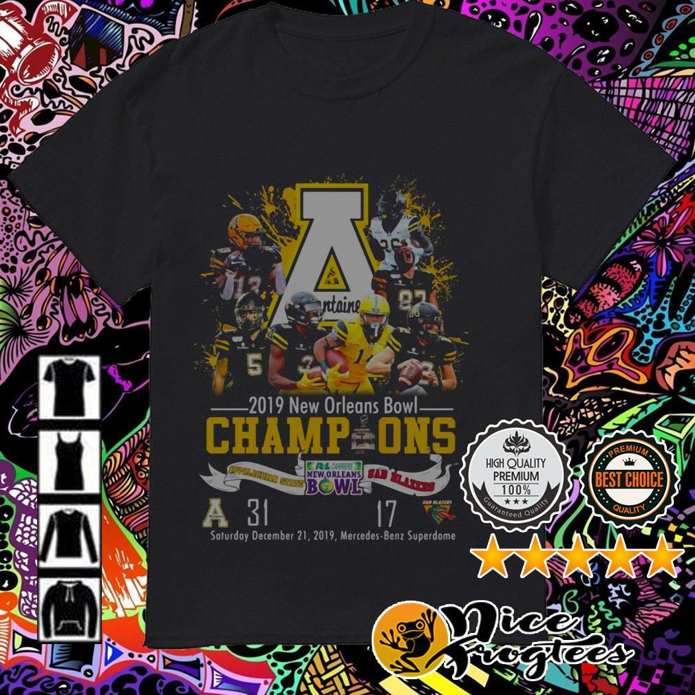 2019 New Orleans Bowl Champions Appalachian State and UAB Blazers shirt