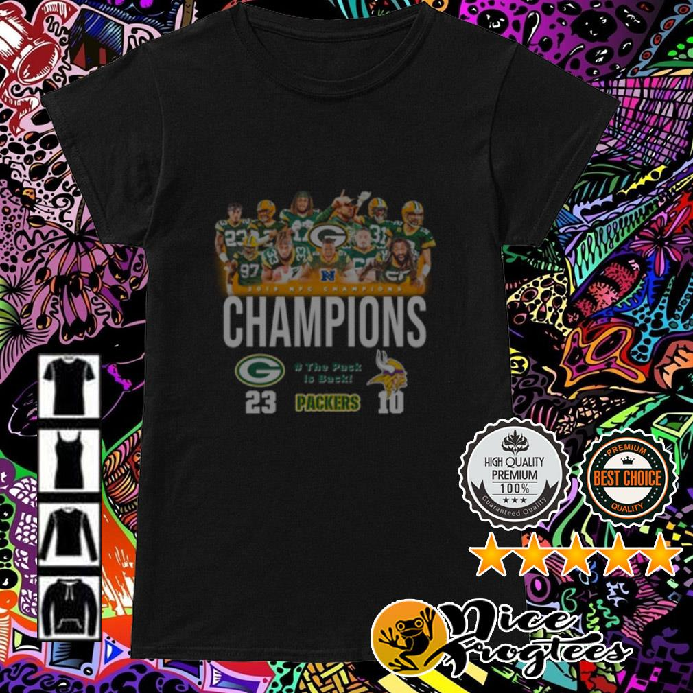 2019 NFC Champions Green Bay Packer and Minnesota Vikings Ladies Tee