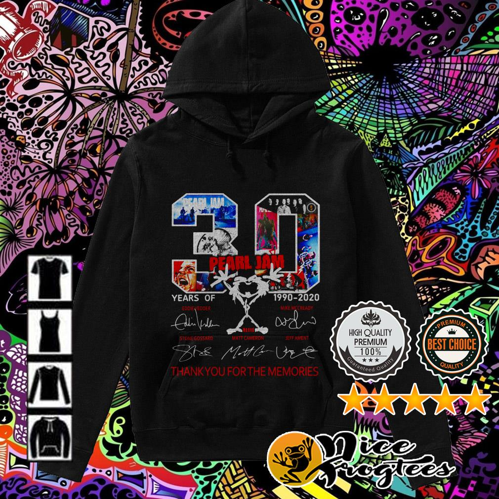 30 Years Pearl Jam 1990-2020 thank you for the memories signature Hoodie