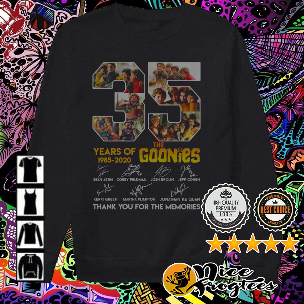 35 Years of The Goonies 1985-2020 signatures thank you for the memories35 Years of The Goonies 1985-2020 signatures thank you for the memories Sweater