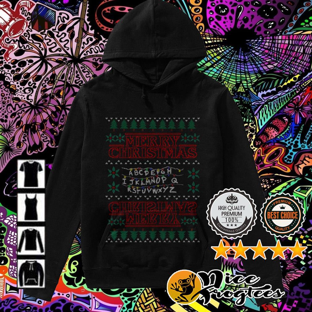 Alphabet Light Merry Christmas Hoodie