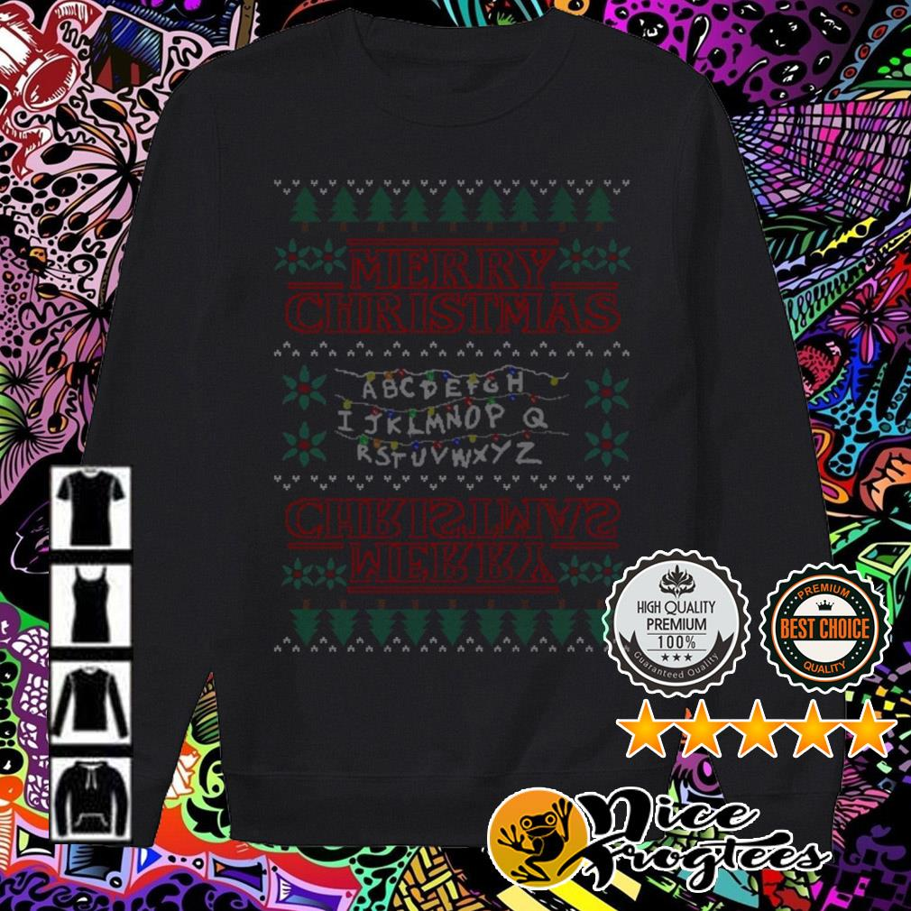 Alphabet Light Merry Christmas sweater