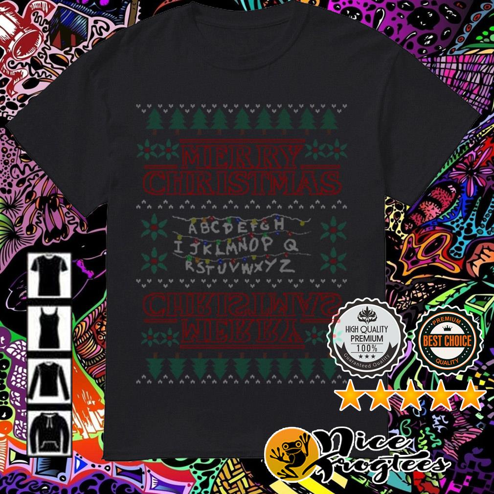 Alphabet Light Merry Christmas guys shirt
