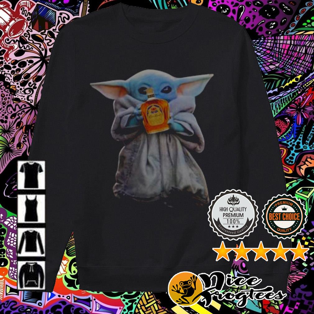 Baby Yoda drinking Crown Royal Sweater