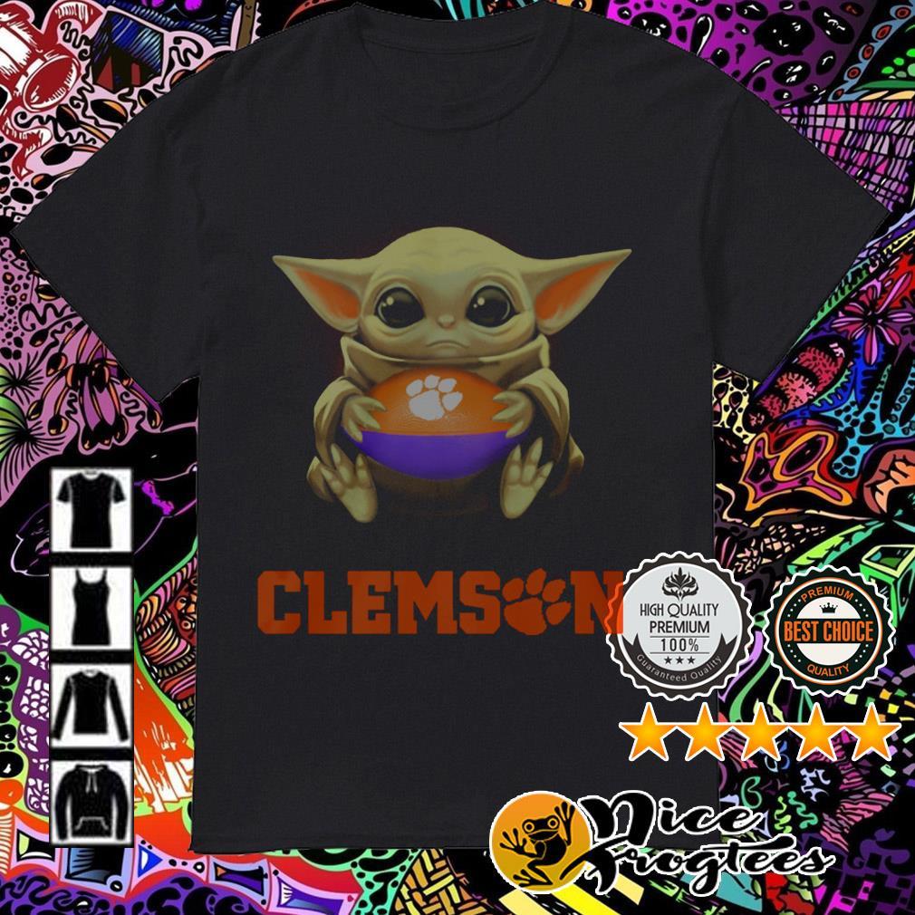 Baby Yoda hug ball Clemson Tigers shirt