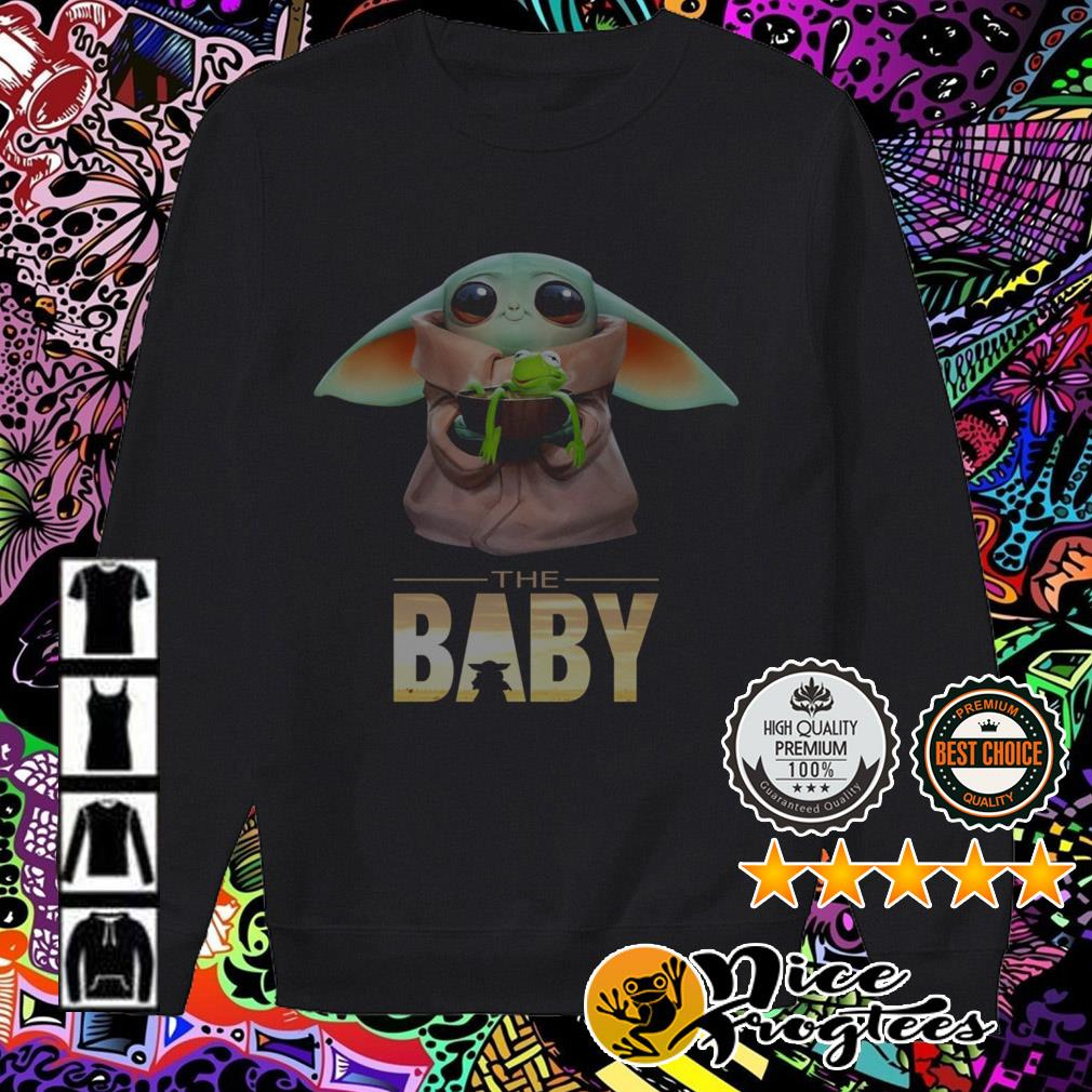 The Baby Yoda Mandalorian hold Kermit the Frog Sweater