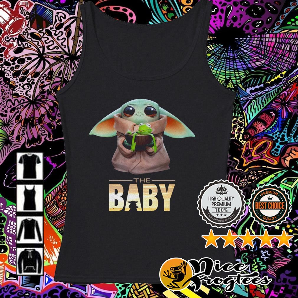 The Baby Yoda Mandalorian hold Kermit the Frog Tank top
