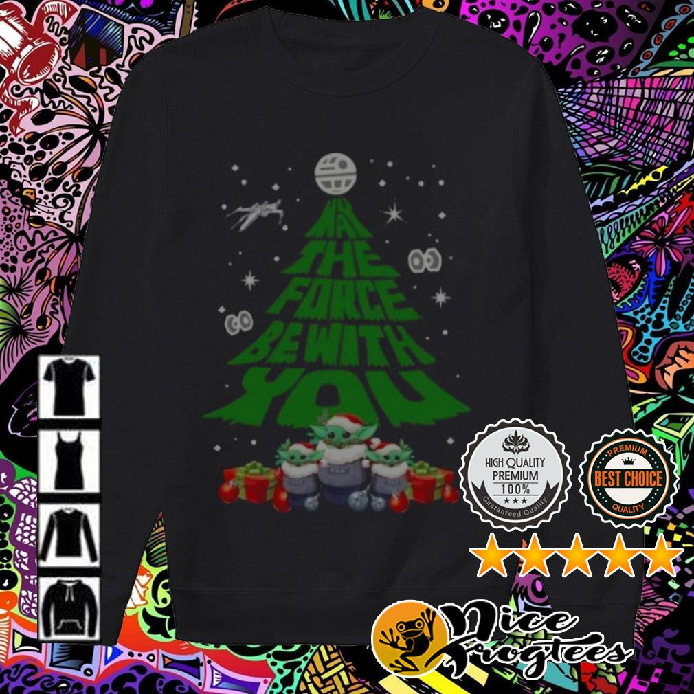 Baby Yoda Santa may the force be with you Christmas tree Sweater